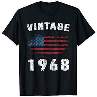 50th Birthday Gifts Vintage 1968 American USA Flag Patriot
