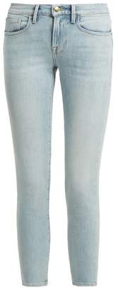 Frame Le Boy Mid Rise Jeans - Womens - Light Blue