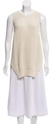 Celine Sleeveless Rib Knit Sweater
