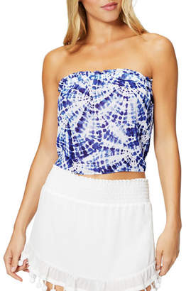 Ramy Brook Nicola Printed Tie-Back Crop Top