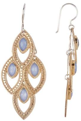 Anna Beck Blue Chalcedony Marquise Chandelier Earrings