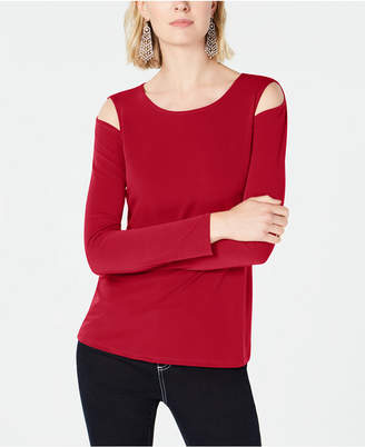 INC International Concepts I.n.c. Petite Cutout Crew-Neck Top, Created for Macy's