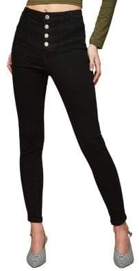 Miss Selfridge Lizze Corset Waist Skinny Jeans