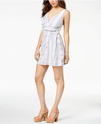 GUESS Laguna Flounce Wrap Dress