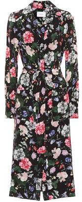 Erdem Quenna floral silk shirt dress