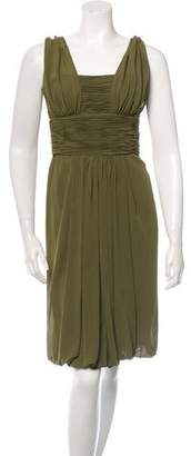 Oscar de la Renta Ruched Silk Dress