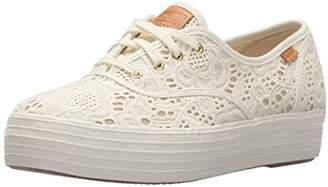Keds Women's Tpl Embroidered Crochet Cream Trainers