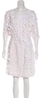Oscar de la Renta 2017 Lace Knee-Length Dress