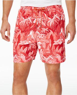 Tommy Bahama Men's Naples Oasis Blooms Sun Protection 30 Swim Trunks $68 thestylecure.com