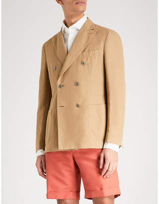 SLOWEAR Chinolino double-breasted linen and cotton-blend jacket