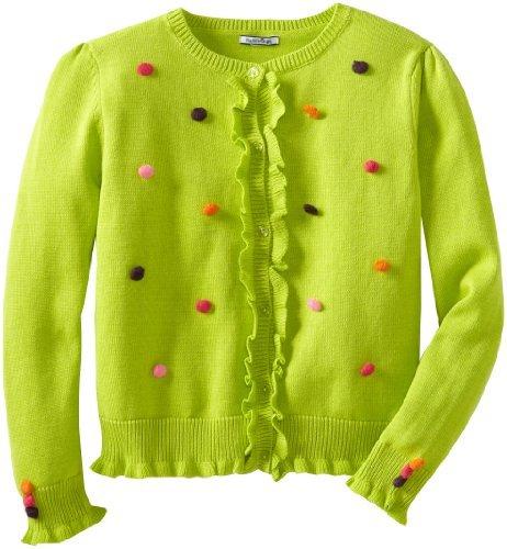 Hartstrings Girls 7-16 Big Sweater Cardigan with Pom Poms