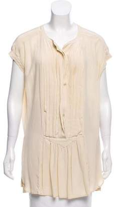Etoile Isabel Marant Pleated Silk Mini Dress