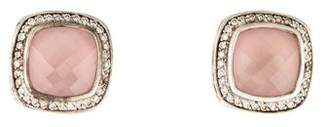 David Yurman Rose Quartz & Diamond Albion Earrings