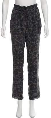 IRO Silk Mid-Rise Straight-Leg Pants