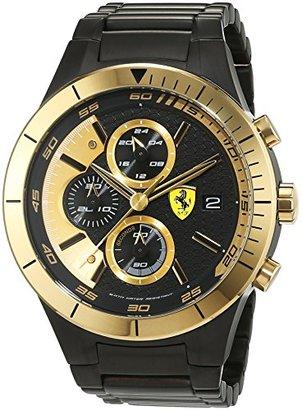 Ferrari (フェラーリ) - Scuderia Ferrariメンズクロノ時計ブラックandゴールドfer0830303