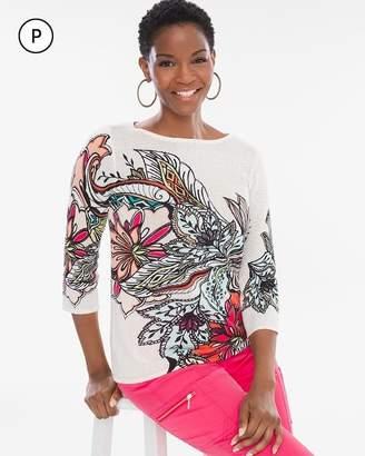 Petite Floral Pullover
