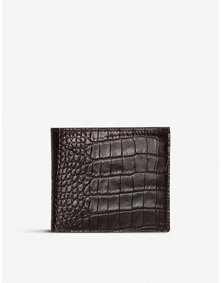 Smythson Mara leather wallet with coin pocket