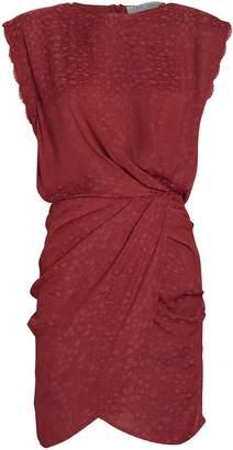 IRO Dedora Leopard Jacquard Mini Dress