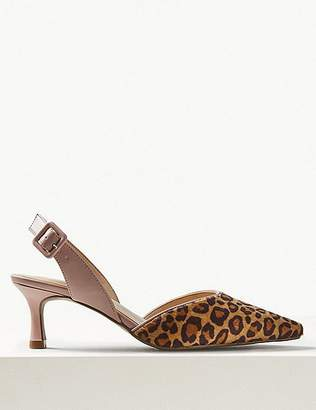 Marks and Spencer Kitten Heel Slingback Shoes