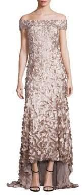 Theia Hi-Lo Petal Gown