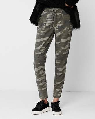 Express High Waisted Ankle Zip Cargo Pant