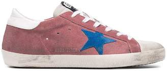 Golden Goose Pink Superstar Suede sneakers