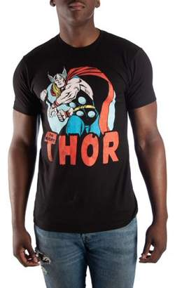"Super Vintage Super Heroes Marvel Comics Men's ""The Mighty Thor Printed Tee, up to size 3XL"