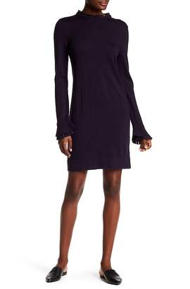 Club Monaco Fildelma Ruffle Trim Wool Dress