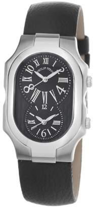 Philip Stein Teslar Women's 2-MB-CB Signature Calfskin Leather Strap Watch