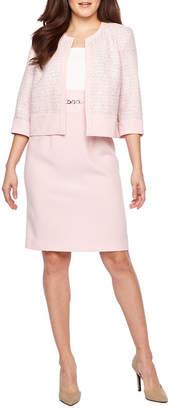Studio 1 3/4 Sleeve Tweed Jacket Dress