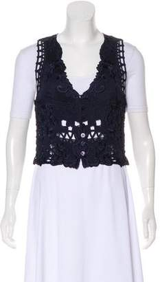 Valentino Embroidered Knit Vest
