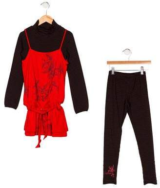 Catimini Girls' Printed Dress Set w/ Tags