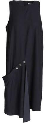 Tibi Asymmetric Draped Voile Dress