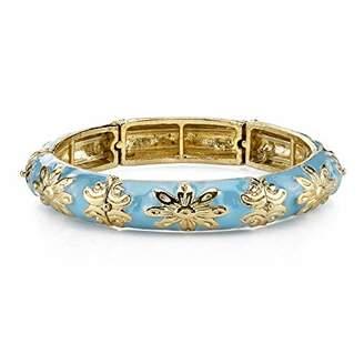 1928 Jewelry Suriname Gold-Tone Turquoise Enamel Stretch Bracelet