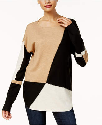 INC International Concepts I.n.c. Petite Colorblocked Sweater, Created for Macy's