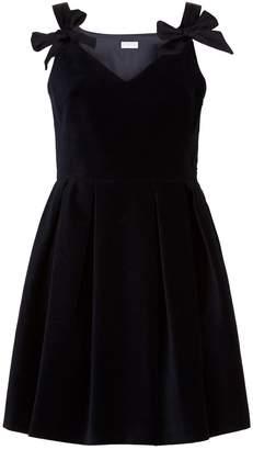 Claudie Pierlot Velvet Bow Detail Dress