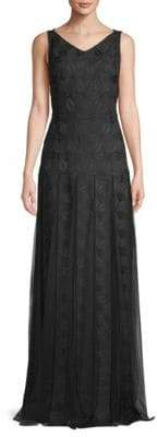 Zac Posen Geometric Sleeveless Gown