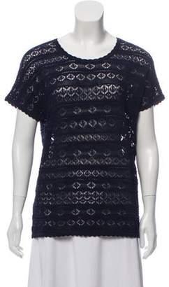 Diane von Furstenberg Patterned Short Sleeve Top Patterned Short Sleeve Top