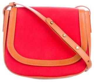 Mansur Gavriel Canvas Leather-Trimmed Crossbody Bag