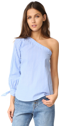 re:named Coraline One Shoulder Top $47 thestylecure.com