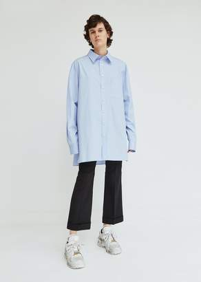 Maison Margiela Cotton Poplin Button Front Shirt