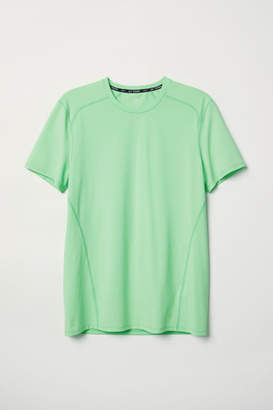 H&M Short-sleeved Sports Shirt - Green