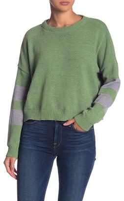 Woven Heart Chenille Varsity Sweater