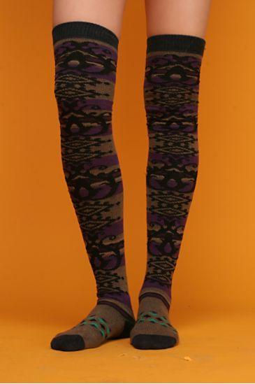 Free People Stripe Nomad Over-the-Knee Socks