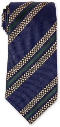 Missoni Navy Striped Silk Tie