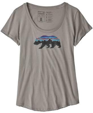 Patagonia Women's Fitz Roy Bear Organic Cotton Scoop T-Shirt