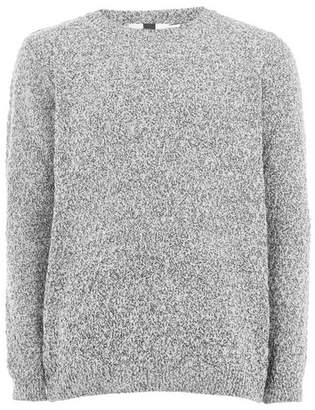 Topman Mens Grey Gray Stitch Sweater