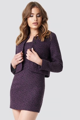 Galore X Na Kd Boucle Jacket Purple