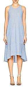 Barneys New York WOMEN'S STRIPED CHAMBRAY DROP-WAIST DRESS