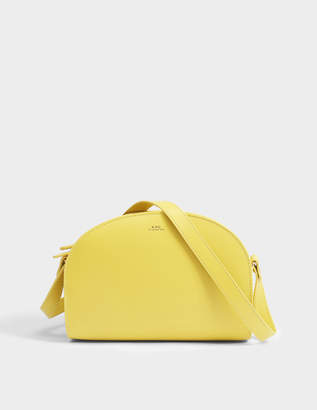 A.P.C. Demi Lune Bag in Pale Yellow Shiny Calfskin